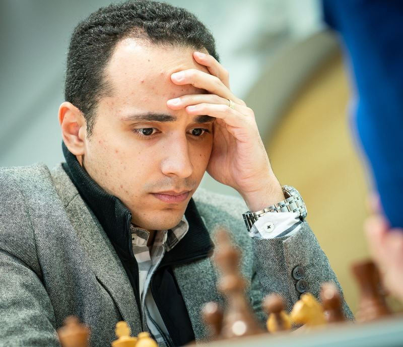 GM Amin Bassem of Egypt in action. Photo credit Lennart Ootes.