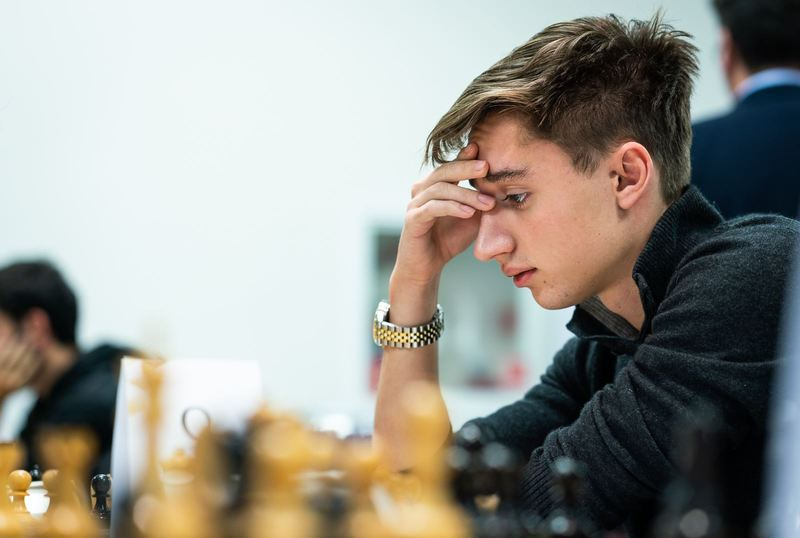 Daniil Dubov in action. Photo credit Lennart Ootes.