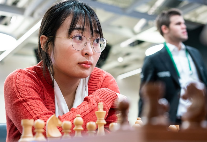 Ju Wenjun in action. Photo credit Lennart Ootes.