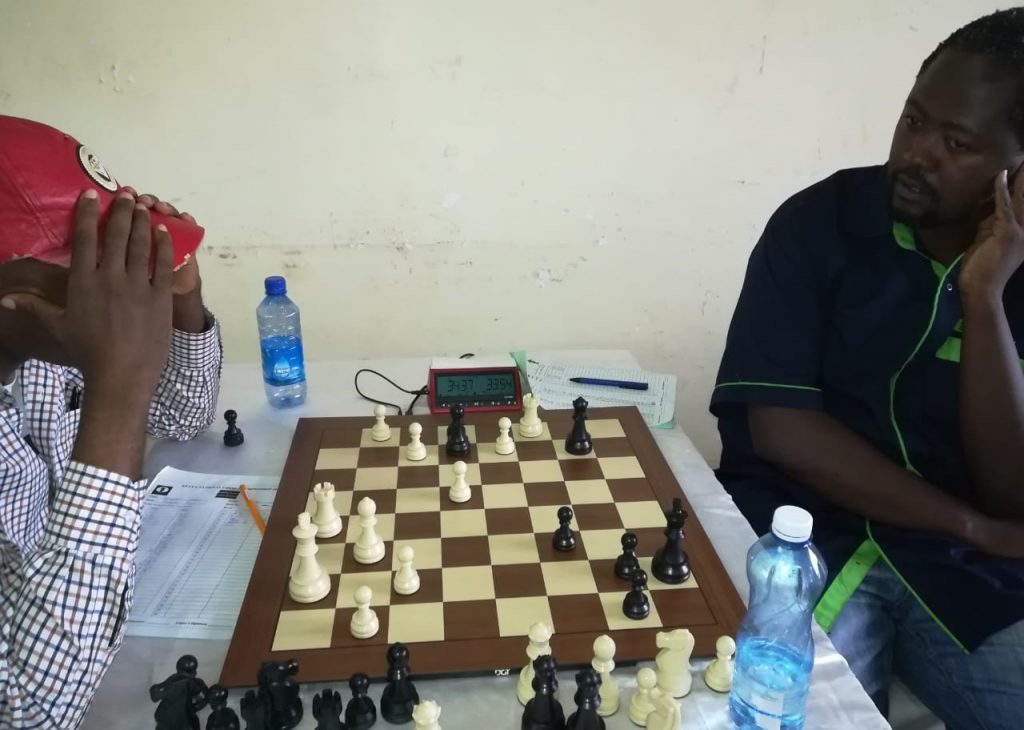 Joseph Maigua (left) in action against defending champion CM Ben Magana. Photo credit Moses Andiwoh.