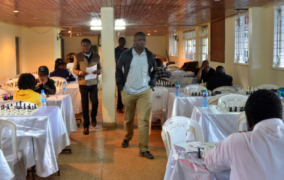 Section of the playing hall of the 2018 Kenya National Chess Championship.