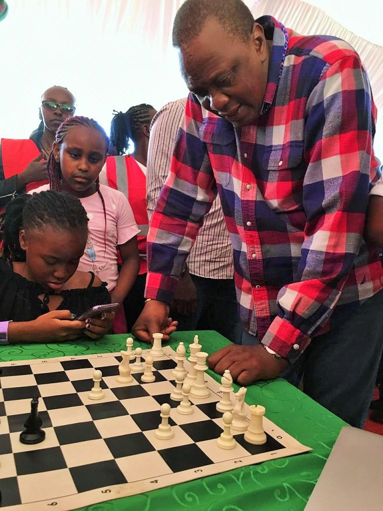 I guess this is what H.E President Kenyatta was thinking 'This game is as complicated as the Kenyan political scene'