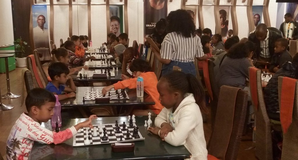 Photo from the 2018 Waridi Open Chess Championship. Photo credit Lawrence Kagambi.