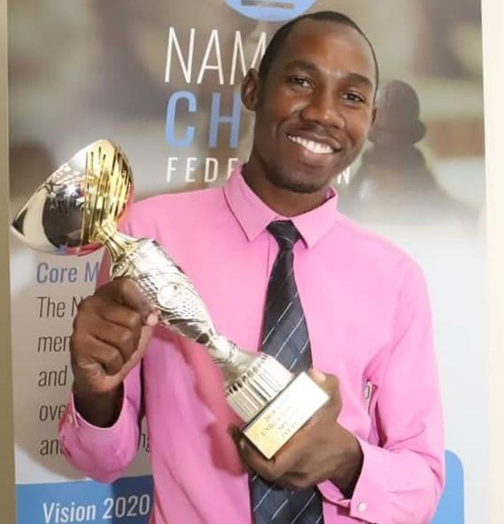 CM James Dimba of Zambia winner of th U2300 Section.