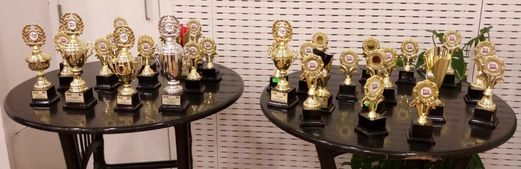 Some of the glittering trophies. Photo credit Lawrence Kagambi.