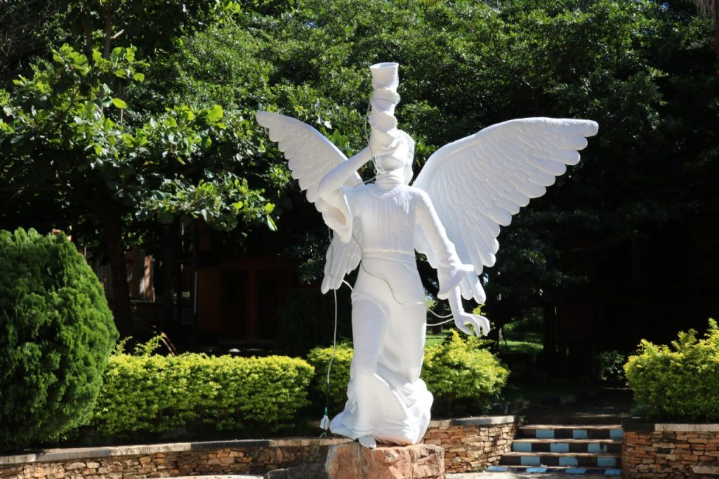 A statue in the gardens of J & M Hotel. Photo credit James Mwangi.