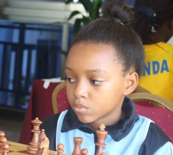 The start from Botswana - 13-year old WFM Naledi Marape. Photo credit James Mwangi.