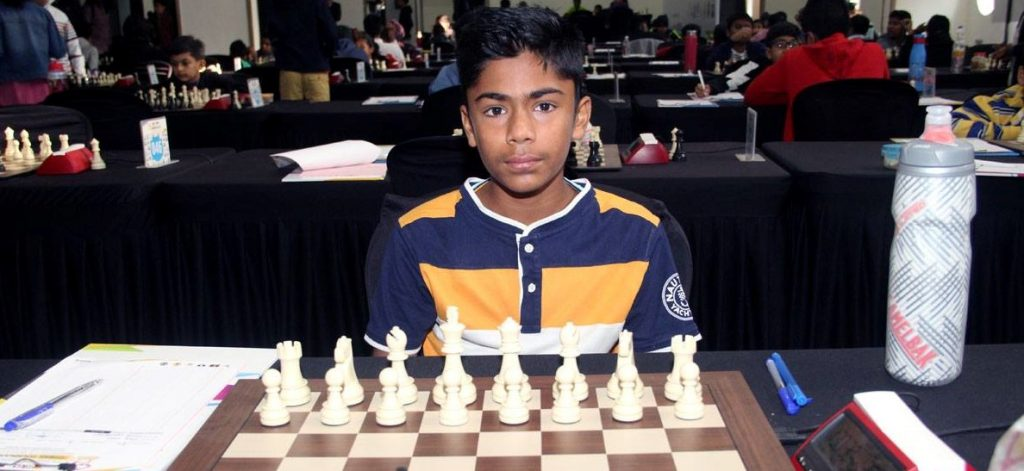 Another player from Kenya - Viraj Shah.