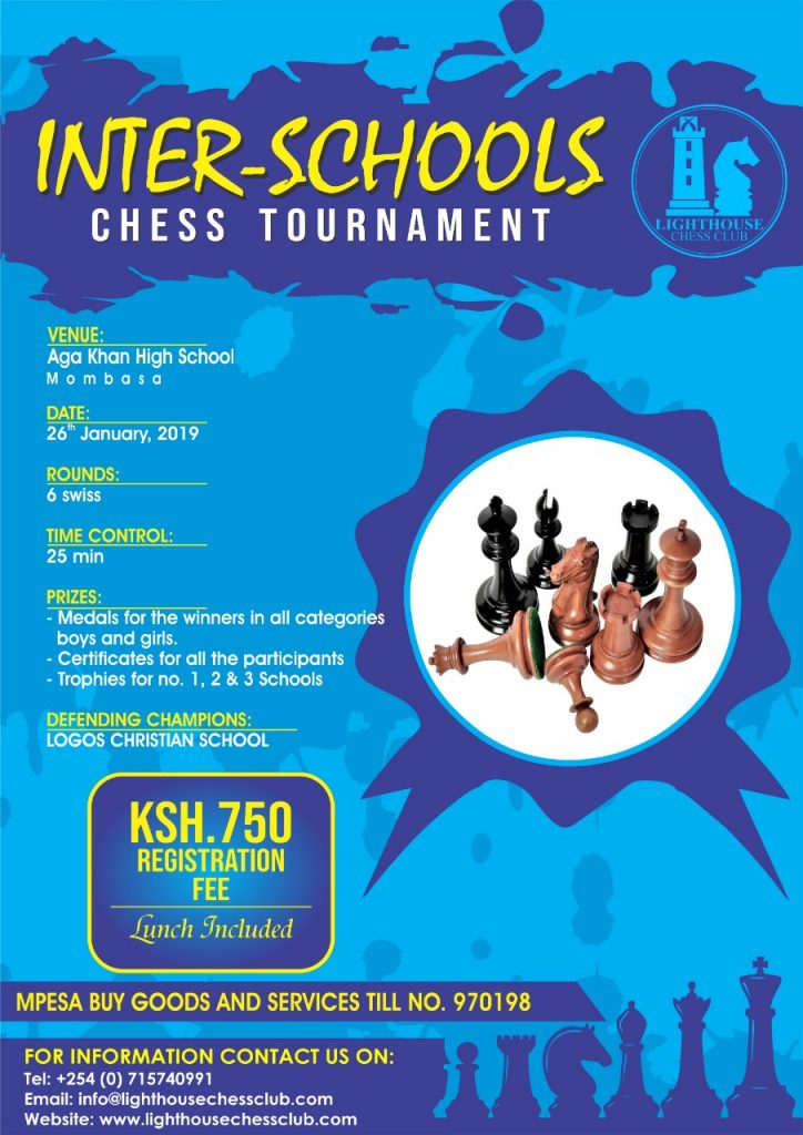 Poster of the Lighthouse Inter-Schools Chess Tournament.