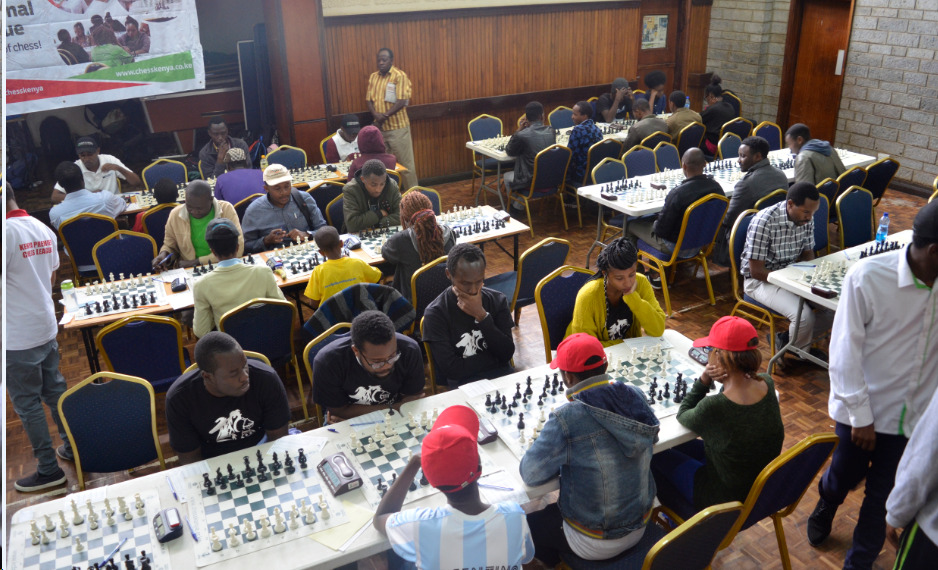 Photo of the playing hall of the Kenya Chess Premier League.