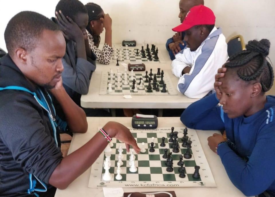 WCM Joyce Nyaruai (right) in action.