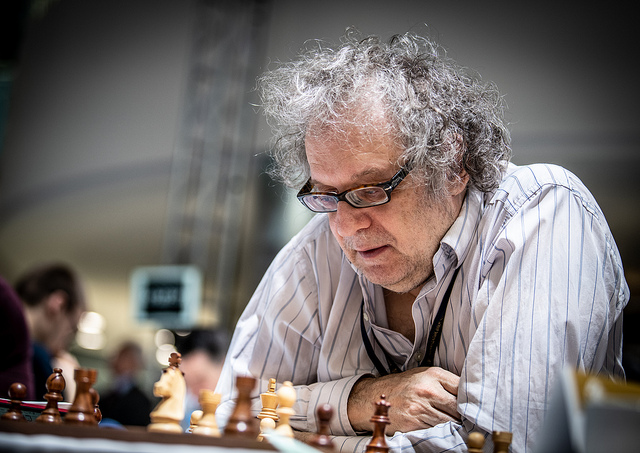 Jonathan Speelman of England. One of his books is titled 'Best Chess Games 1970-1980' published by Unwin Publications. Photo credit David Llada.