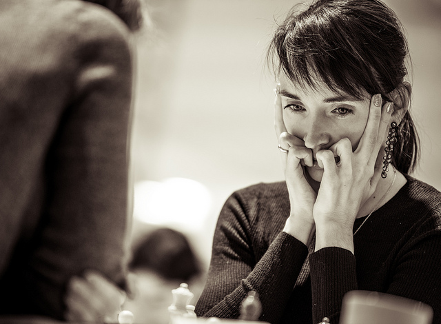 The charming Kateryna Lagno of Russia who is the highest rated player in the Ladies section. Photo credit David Llada.