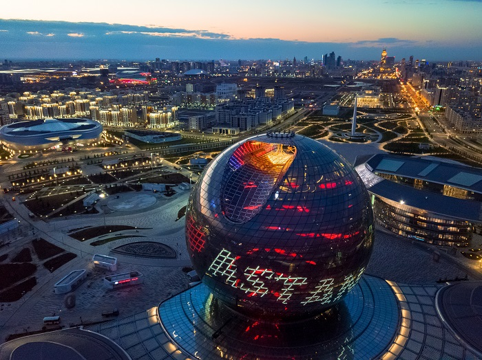Astana International Financial Centre which will be the venue for the event. Photo credit http://wteams.astana2019.fide.com.