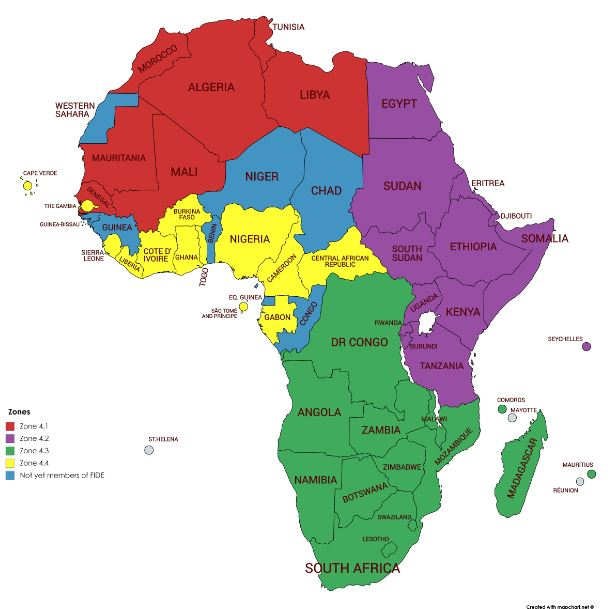 Current zonal structure for Africa which expires on 30th June 2019.