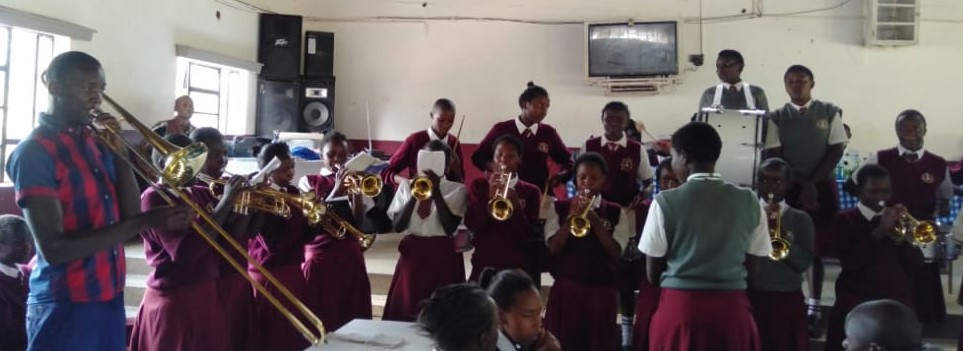 Live band from Moi Kapsowar Girls High School. Photo credit Duke Michieka.