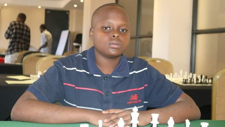 Rising star Alvin Mbithi seen here at the Masaku Open Chess Tournament. Photo credit Anthony Kionga.