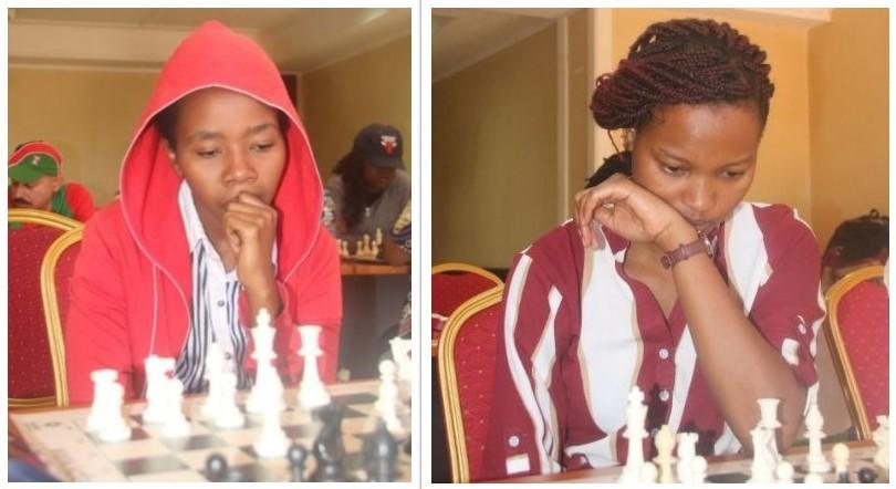 Charming ladies from Kenya WFM Sasha Mongeli (left) & Daphne Mwikali. Photo credit FA James Mwangi.