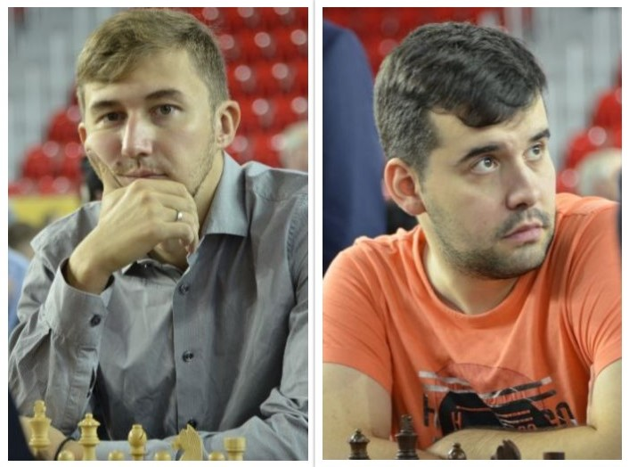 Team Russia - from left Sergey Karjakin and Ian Nepomniachtchi.  Photo credit Kim Bhari.