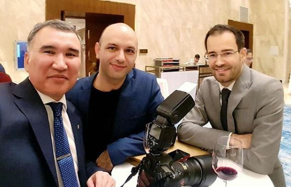 Some of the unsung heroes of the event from left - Dastan Kapaev (photographer from Astana), David Llada (FIDE official photographer) & Yannick Pelletier (FIDE Press Officer). Photo credit Dastan Kapaev.