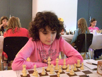 Bojana Bojatevic in action in Mureck Austria 2006 (second place in girls section under 12).