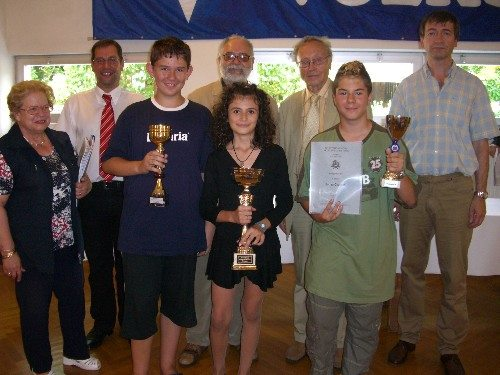 Bojana Bejatovic in Mureck, Austria 2007 1st place under 14 open tournament.