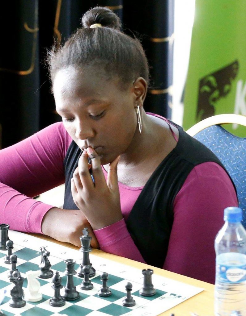 WCM Joyce Nyaruai on her way to victory in the 2019 Kenya Open. Photo credit www.sportpicha.com