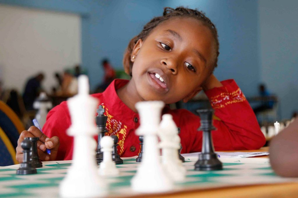 A player from the Junior section. Photo credit Chess Kenya.