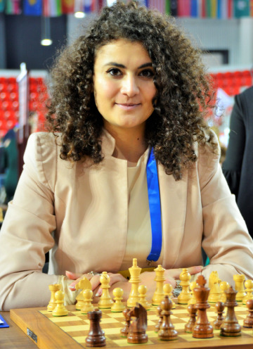 Bojana Bejatovic at the 2018 Batumi Olympiad.  Photo credit Kim Bhari.