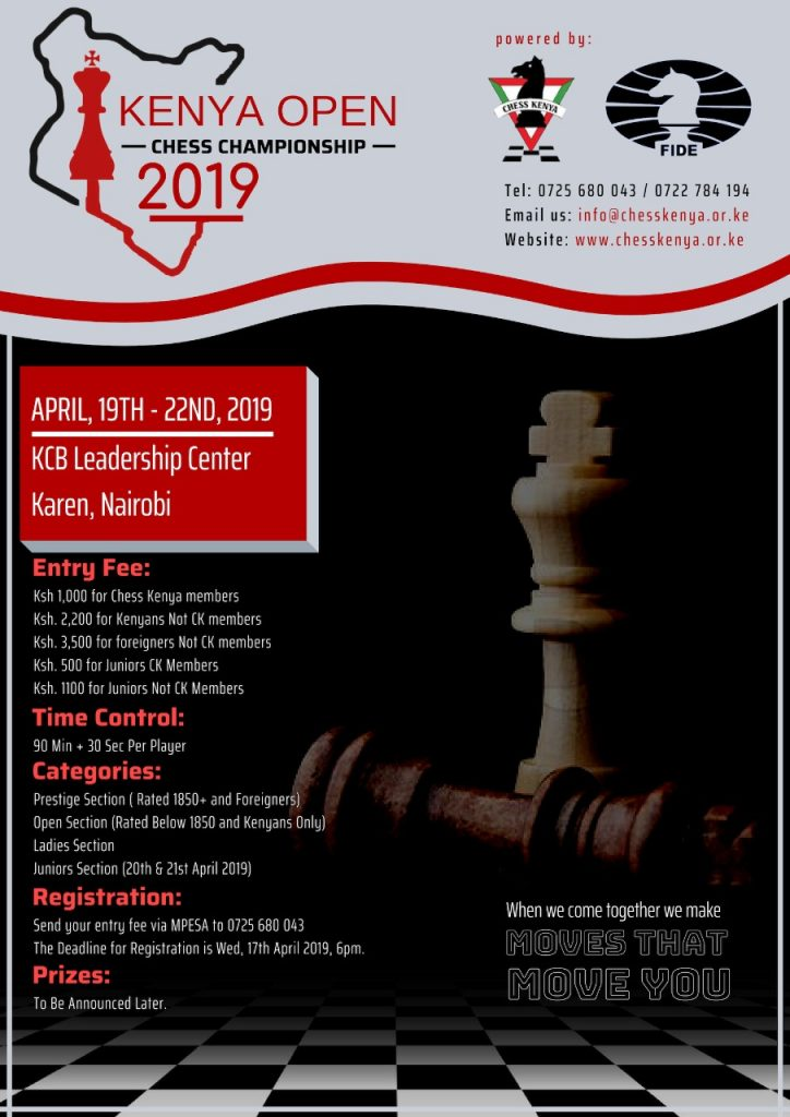 Poster of the Kenya Open 2019.
