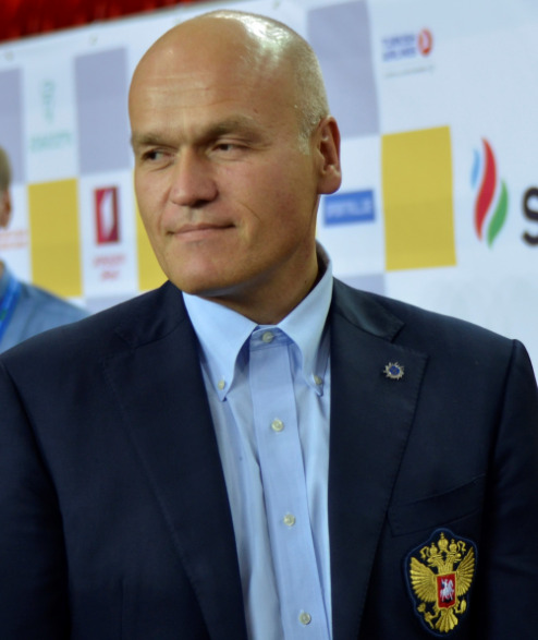 Andrey Filatov who the President of the Russia Chess Federation at the 2018 Batumi Olympiad. Photo credit Kim Bhari.