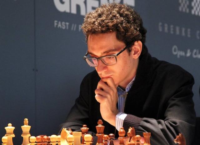 Fabiano Caruana in action. Photo credit Georgios Souleidis.