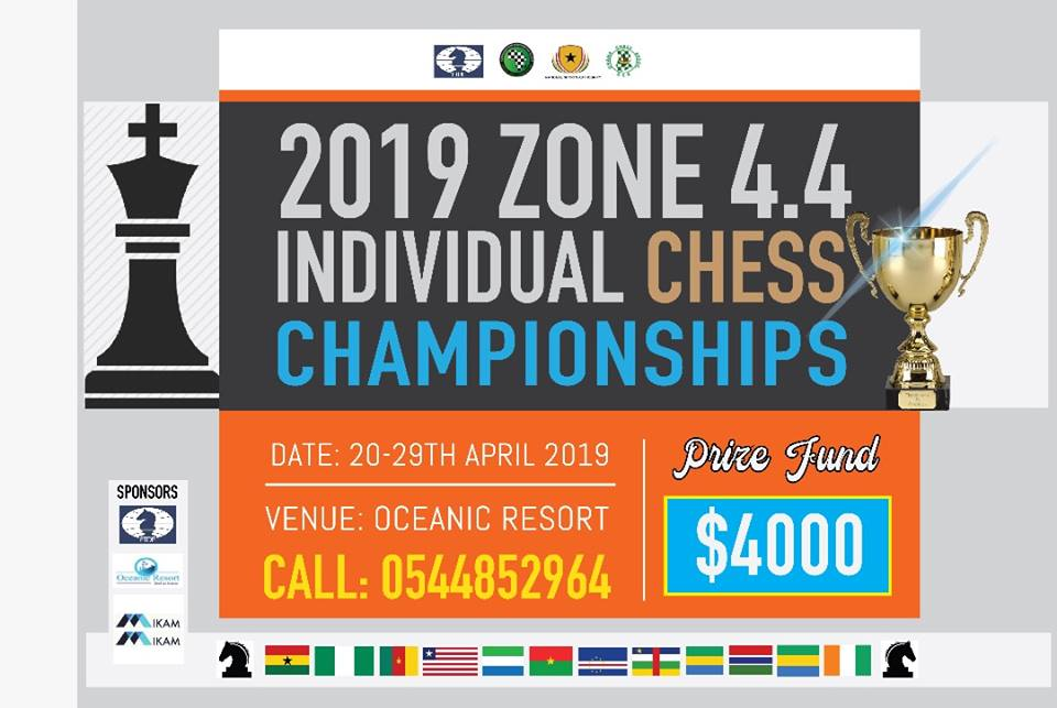 Poster of the 2019 Zone 4.4 Chess Championship.