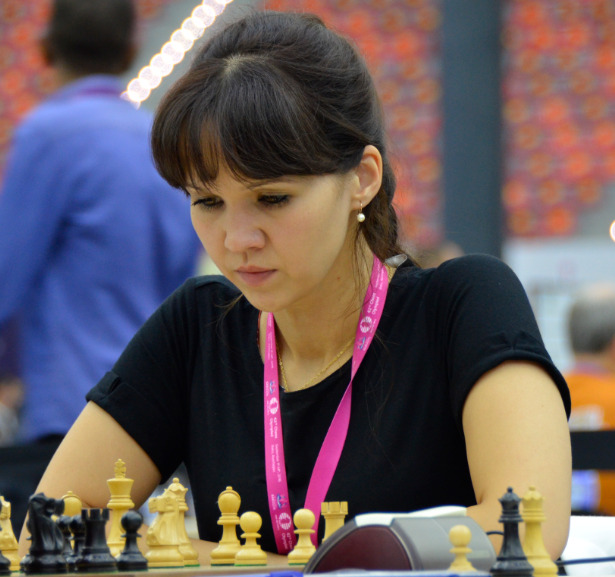 The charming Alexandra Samaganova in action during the 2016 Baku Olympiad. Photo credit Kim Bhari.
