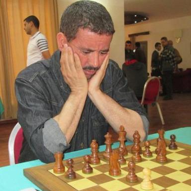 Salhi Noureassadat of Algeria in action. Photo credit Federation Algerienne des Echecs,