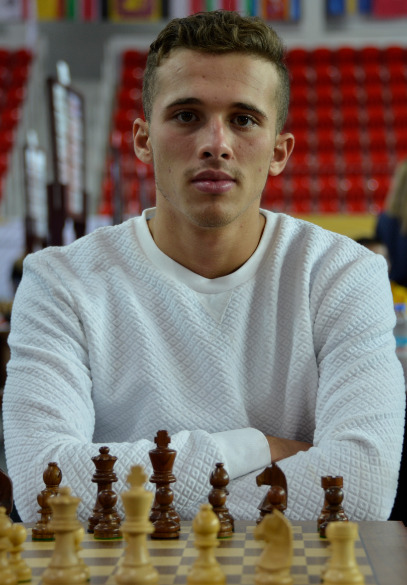 GM Bellacene Bilel played board 1 for Algeria in the 2018 Batumi Olympiad. Photo credit Kim Bhari.