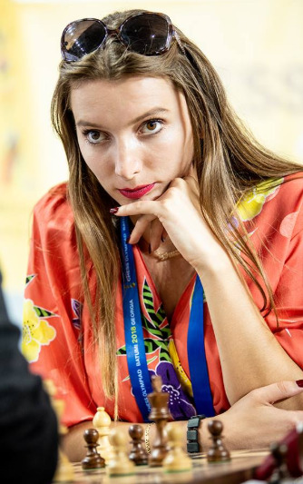 Ms Bruna Tuzi - a star from Albania - Kenya Chess Masala