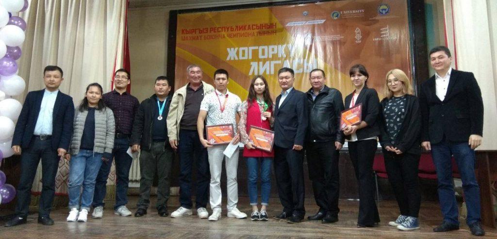 Prize winners pose for a photo. Alexandra Samaganova third from the right. Photo credit Alexandra Samaganova.