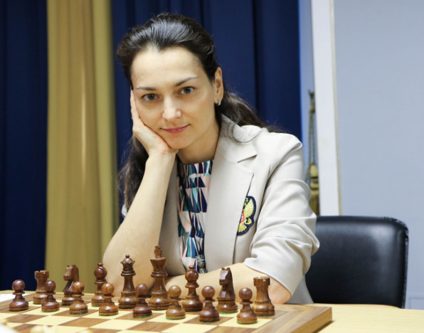 Alexandra Kosteniuk of Russia. Photo credit https://fwct2019.com.