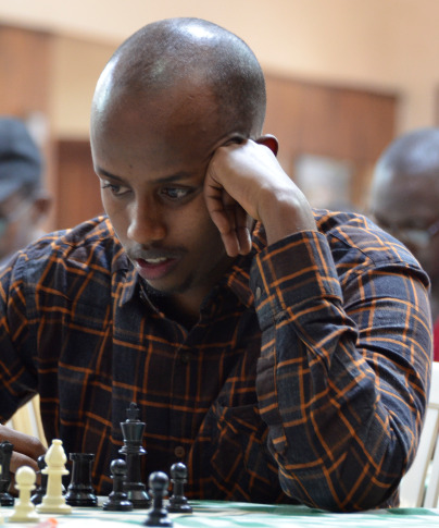 Abdi Miskin in action during the 8th Capablanca Cup held in February 2018. Photo credit Kim Bhari.