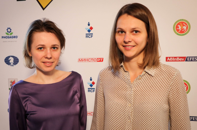 The formidable Muzychuk sisters from Ukraine. Mariya (left) and Anna Muzychuk.