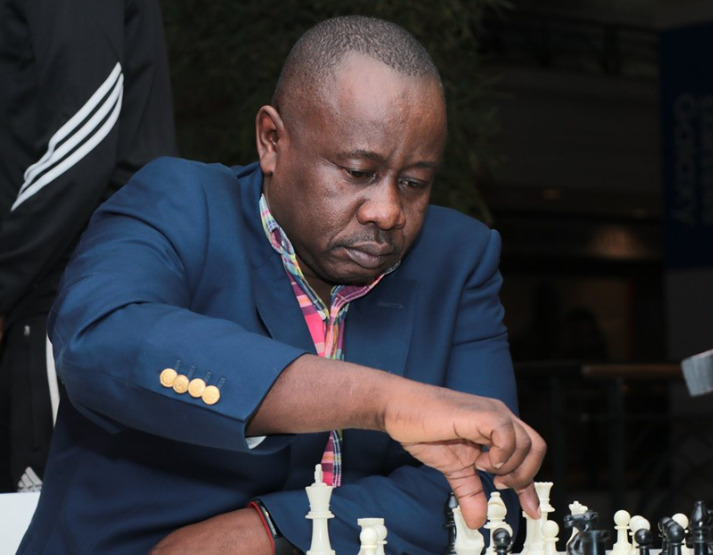 Brian Kidula the CEO of Terrian Chess Academy makes his move. Photos credit : Arongoey Photography.
