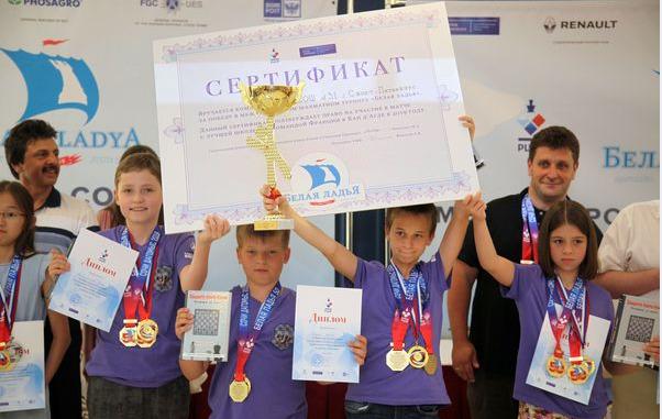 St. Petersburg (Vasileostrovsky district) winner of the 2019 Belya Ladya Chess Tournament. Photo credit V. Barsky and www.ruchess.ru.