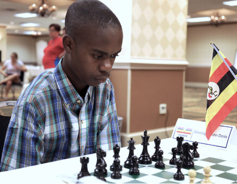 John Denis Mwesigye of Uganda in action. Photo credit Dora Martinez.
