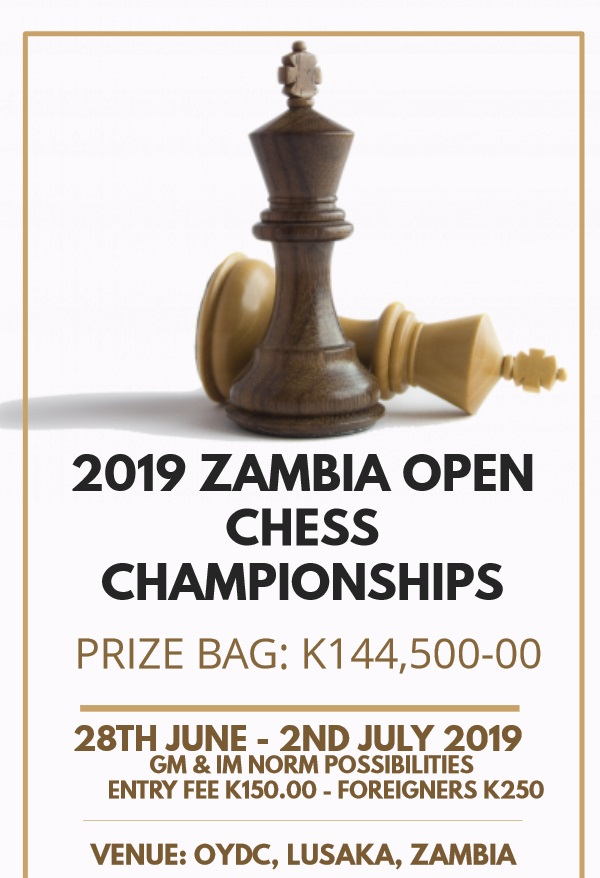 Poster for the 2019 Zambia Open.
