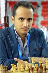 Can he add his sixth continental title? GM Dr Bassem Amin of Egypt in action during the 2018 Batumi Olympiad. Photo credit Kim Bhari.