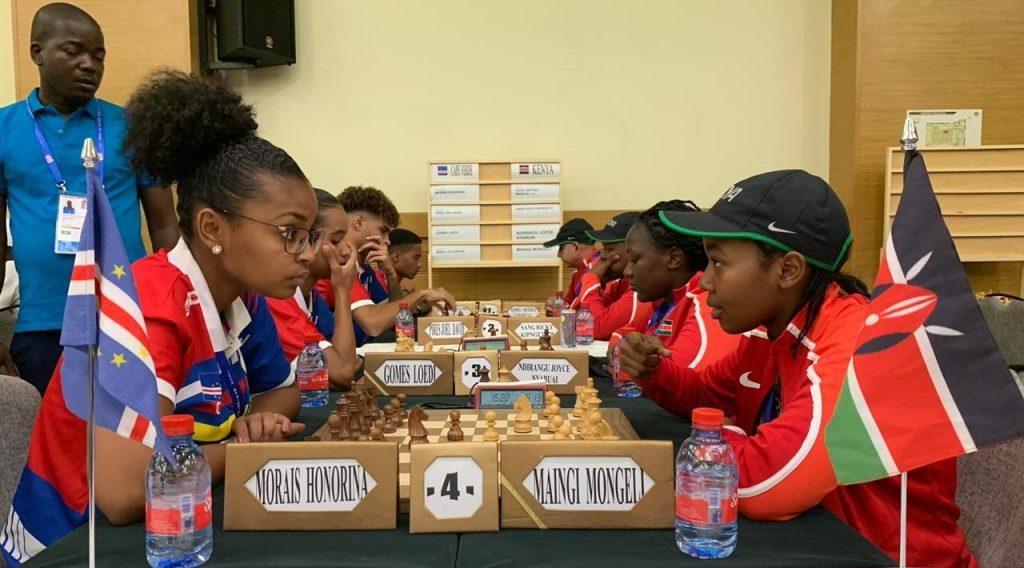 Cape Verde faces Kenya. Photo credit Mohamed Bounaji .
