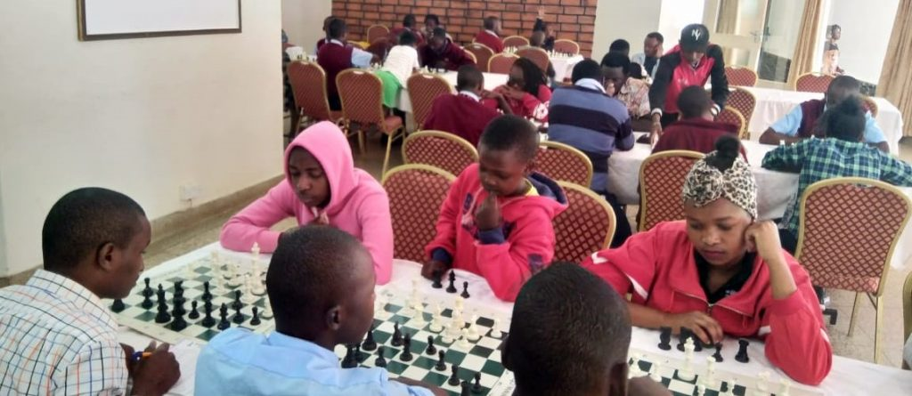 Section of the playing hall during the Nyeri Open.
