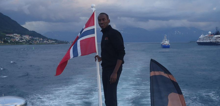 The late George Githui during the 2014 Tromso Olympiad.