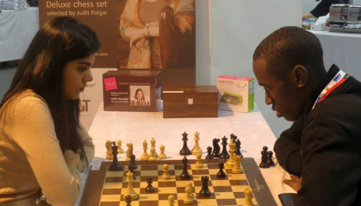 George Githui enjoying a game that brought him much joy.  He is seen here playing against Nida Jurgensen.